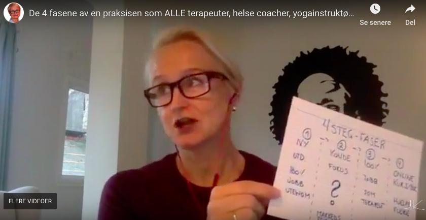 De 4 fasene av en praksisen som ALLE terapeuter, helse coacher, yogainstruktører gjennomgår